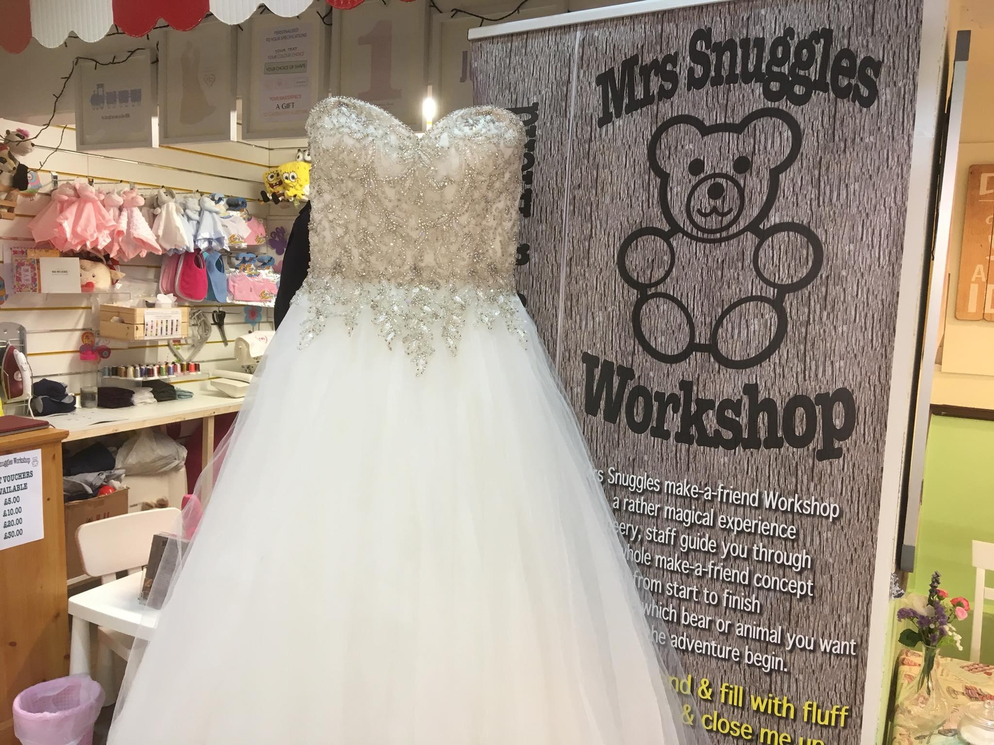WEDDING DRESS MEMORY BEAR KEEPSAKE